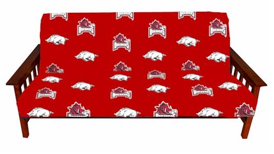 arkansas razorbacks college futon cover     licensed college futon covers   futon covers online  rh   107 170 250 240