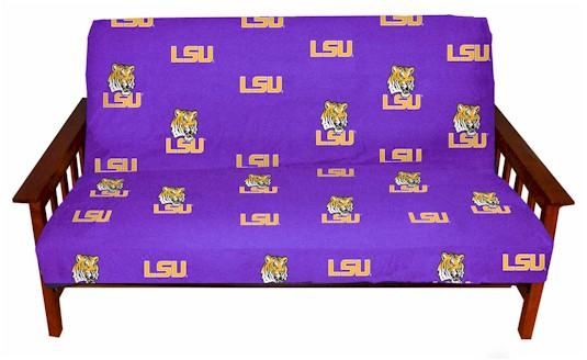 lsu tigers college futon cover     licensed college futon covers   futon covers online  rh   107 170 250 240