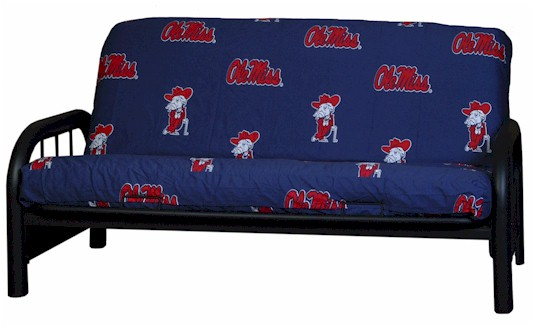 ole miss rebels college futon cover     licensed college futon covers   futon covers online  rh   107 170 250 240